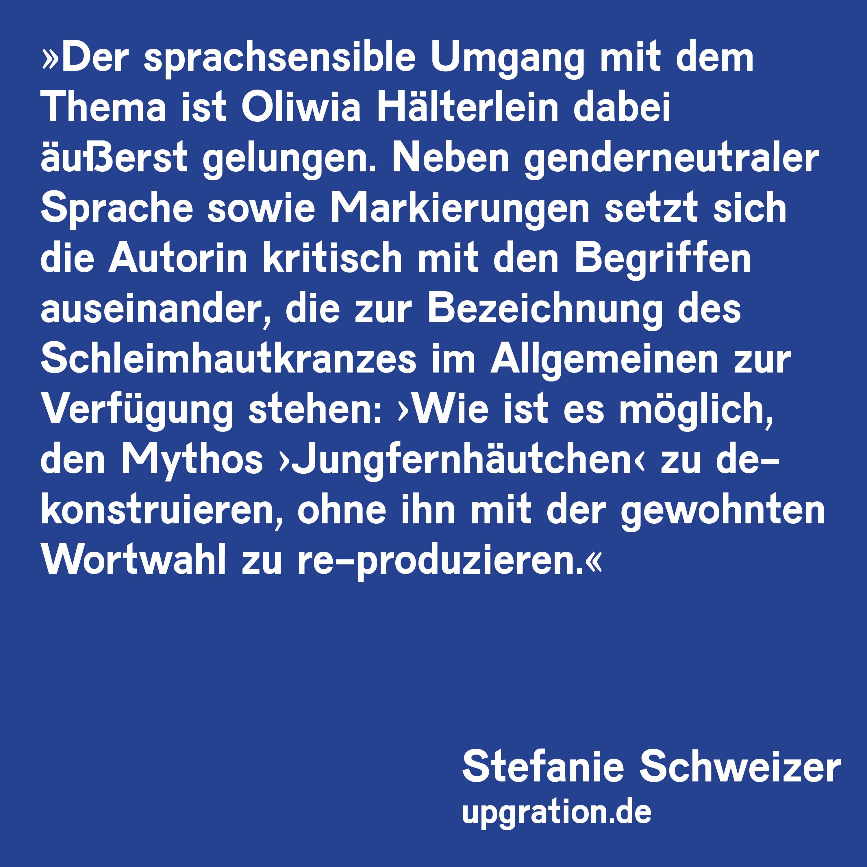 Stefanie Schweizer, upgration